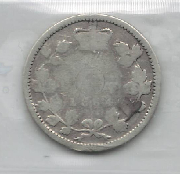 Canada: New Brunswick: 1864 10 Cents ICCS Poor