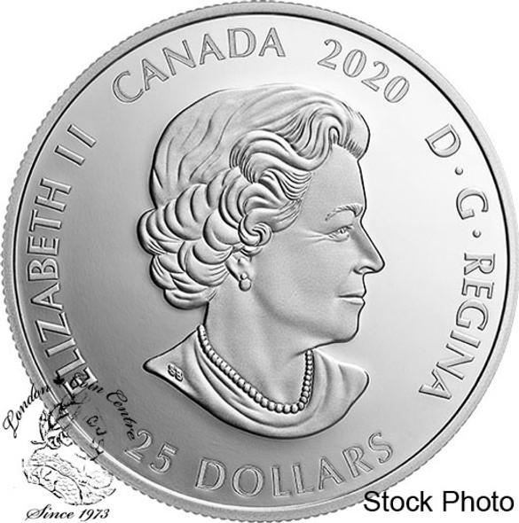 Canada: 2020 $25 Toronto Raptors 25th Season 1 oz. Pure Silver Coin