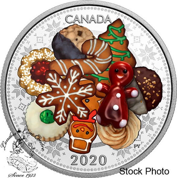 Canada: 2020 $20 Murano Holiday Cookies 1 oz. Pure Silver Coin