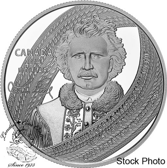 Canada: 2019 $1 Louis Riel: Father of Manitoba Special Edition Proof Dollar Coin
