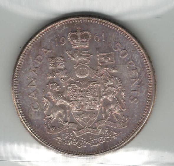 Canada: 1961 50 Cent ICCS MS65
