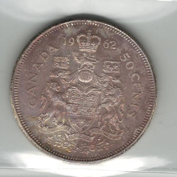 Canada: 1962 50 Cent ICCS MS65
