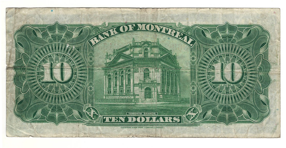 Canada: 1923 $10 Banknote - Bank of Montreal 3153869
