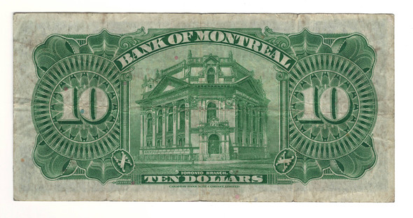 Canada: 1938 $10 Banknote - Bank of Montreal 276041