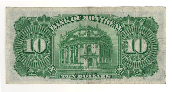 Canada: 1935 $10 Banknote - Bank of Montreal 997611