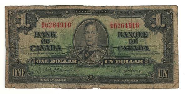 Canada: 1937 $1 Bank Of Canada Banknote BC-21a Lot#10