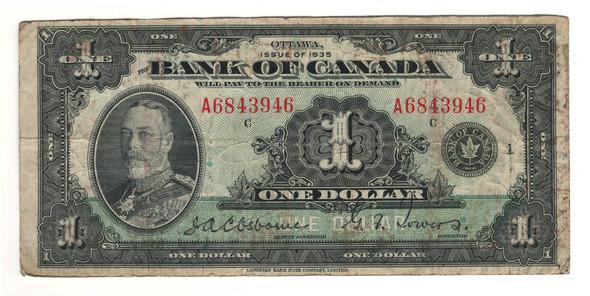 Canada: 1935 $1 Banknote - Bank of Canada English BC-1a Lot#7