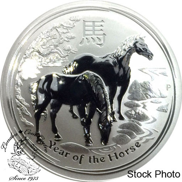 Australia: 2014 $1 Year of the Horse 1 oz. Pure Silver Coin