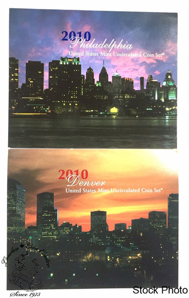 United States: 2010 Uncirculated Mint Coin Sets Denver and Philadelphia