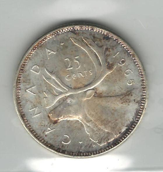 Canada: 1965 25 Cent ICCS MS65 Cameo