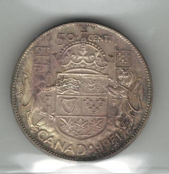 Canada: 1951 50 Cent ICCS MS65