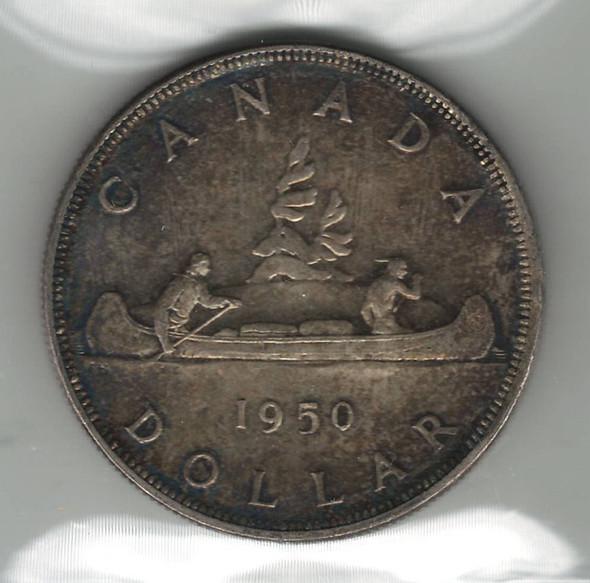 Canada: 1950 Silver Dollar ICCS MS63