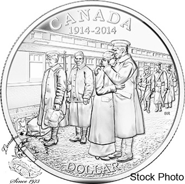 Canada: 2014 $1 100th Anniversary of the Declaration of the First World War BU Silver Dollar Coin
