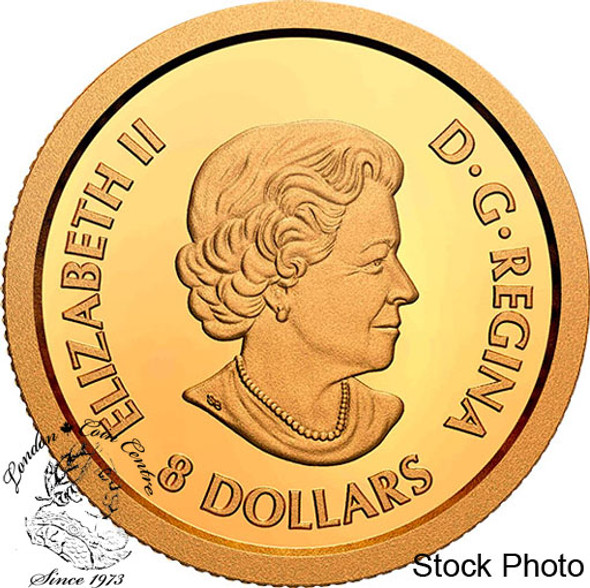 Canada: 2020 $8 Lucky Flower Dragon Pure Gold Coin