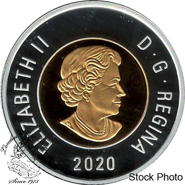 Canada: 2020 $2 Proof Silver Coin with Selective Gold Plating