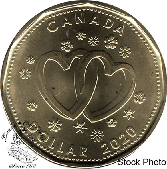 Canada: 2020 $1 Two Hearts Coin