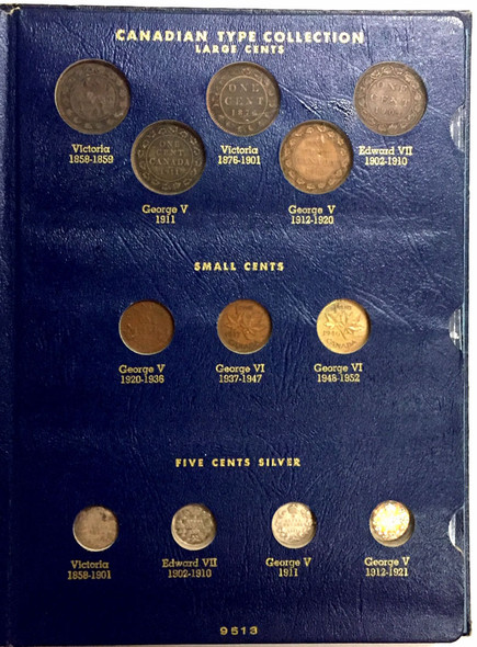 Canada: 1858 - 1952 Type Set Collection - Whitman Folder
