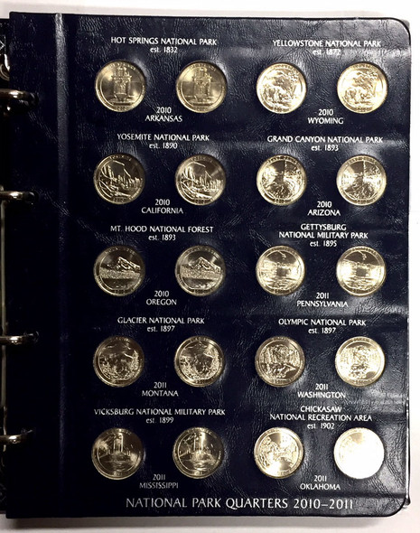 United States: National Park Quarters Collection in Binder (72 Pieces)