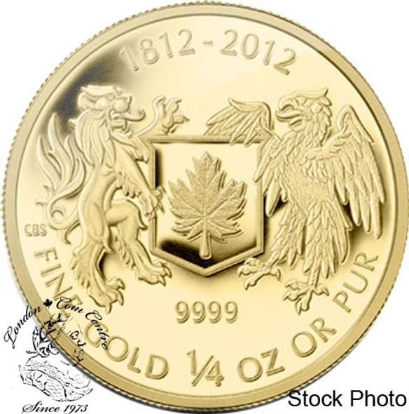 Canada: 2012 $10 War of 1812 1/4 oz Gold Coin