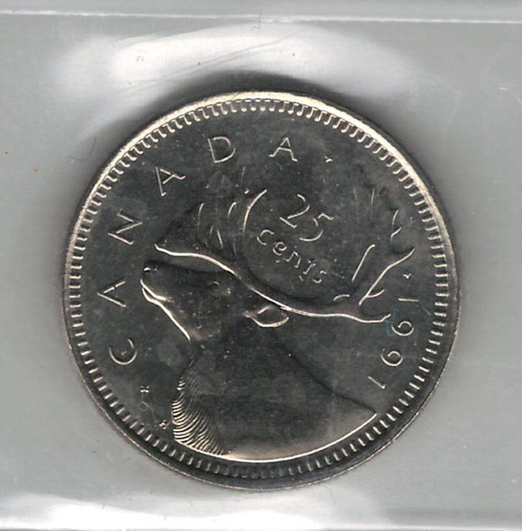 Canada: 1991 25 Cent CCCS MS64