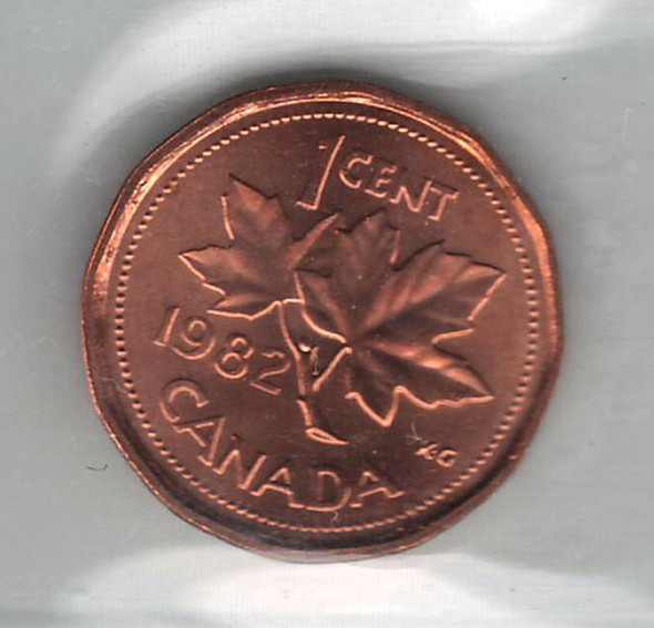 Canada: 1982 1 Cent ICCS MS66 Red