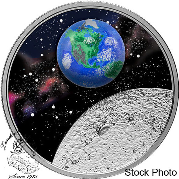 Canada: 2020 $20 Mother Earth: Our Home  1 oz. Pure Silver Glow-in-the-Dark Coin