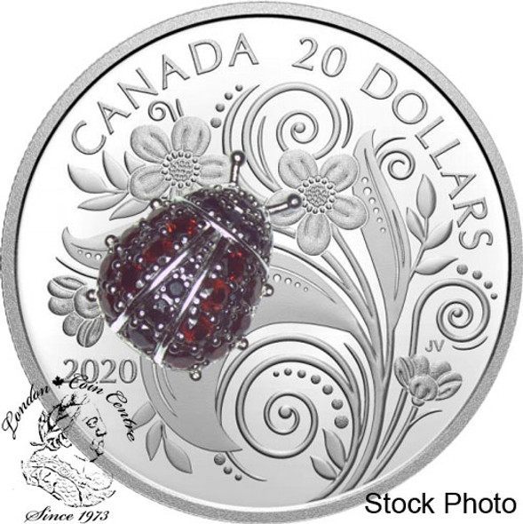 Canada: 2020 $20 Bejeweled Bugs: Ladybug Fine Silver Coin