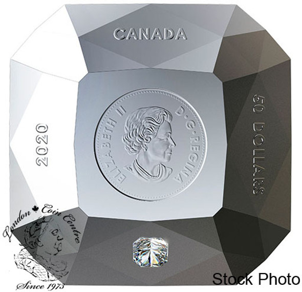 Canada: 2020 $50 Forevermark Diamond 3 oz Pure Silver Diamond-Shaped Coin