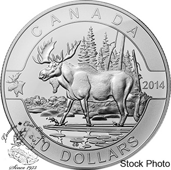Canada: 2014 $10 The Moose Pure Silver Coin
