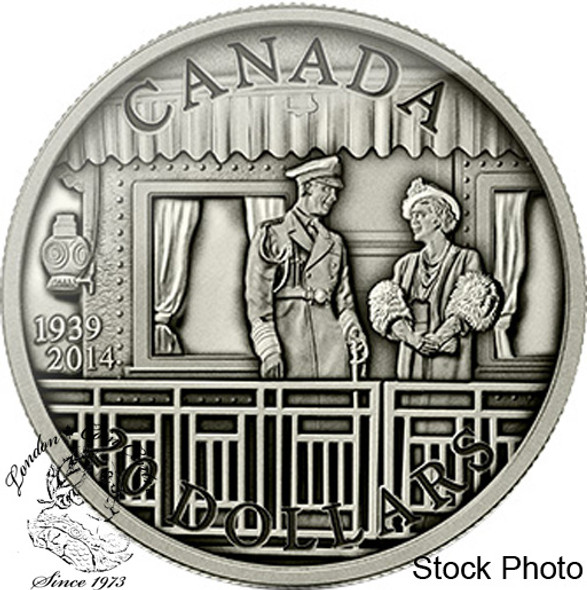 Canada: 2014 $20 75th Anniversary of the First Royal Visit Silver Coin