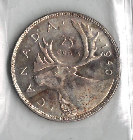 Canada: 1940 25 Cent ICCS MS65