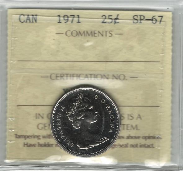 Canada: 1971 25 Cent ICCS SP67