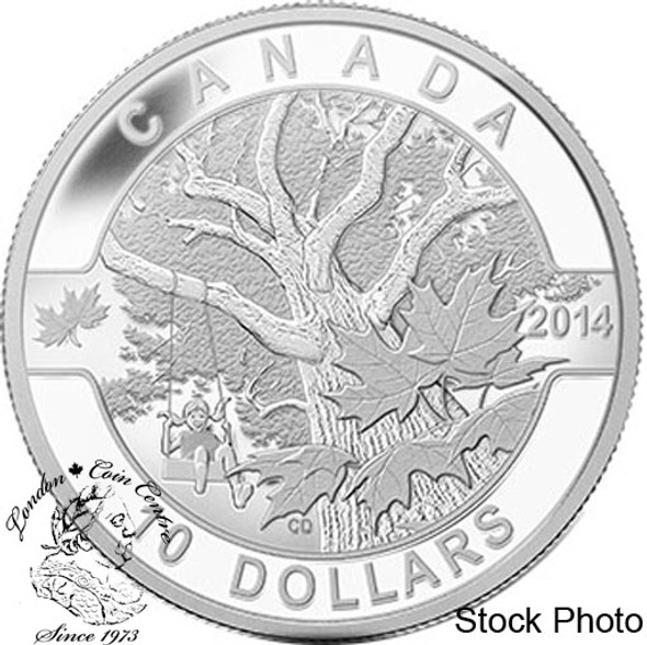 Canada: 2014 $10 Down by the Old Maple Tree Silver Coin