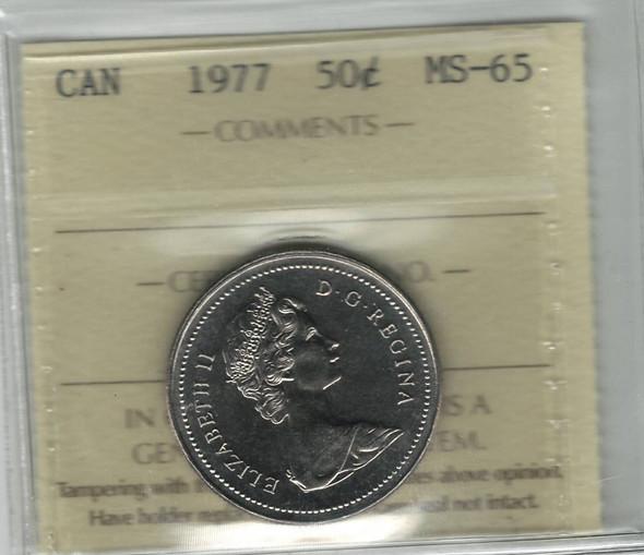 Canada: 1977 50 Cent ICCS MS65
