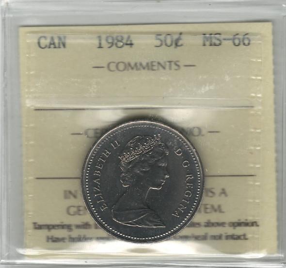 Canada: 1984 50 Cent ICCS MS66