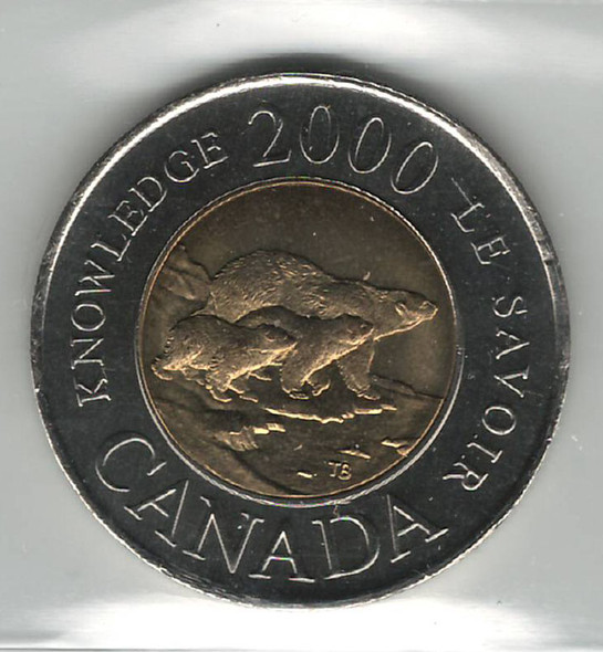 Canada: 2000 $2 Toonie Knowledge ICCS MS66