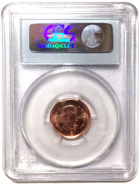 Canada: 2012 One Cent Copper Plated Steel PCGS MS67RD