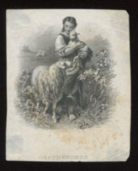 """Canada: Bank of Ottawa """"Shepherdess"""" Die Proof Vignette"""