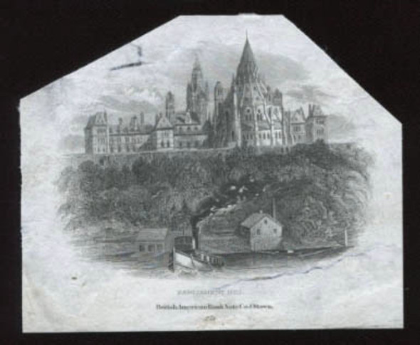 """Canada: Bank of Ottawa """"Parliament Hill"""" Die Proof Vignette"""