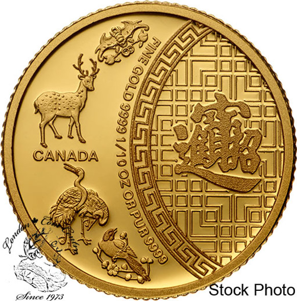 Canada: 2014 $5 Five Blessings 1/10 oz. Gold Coin