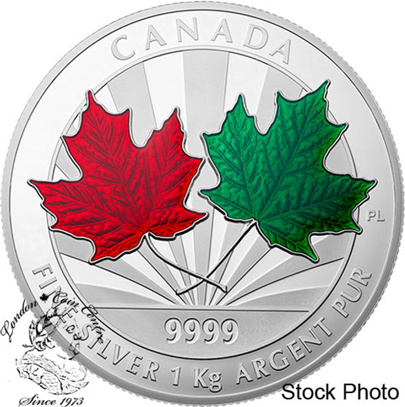 Canada: 2014 $250 Maple Leaf Forever One Kilogram Silver Coin
