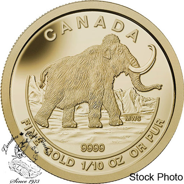 Canada: 2014 $5 Woolly Mammoth 1/10 Oz. Gold Coin