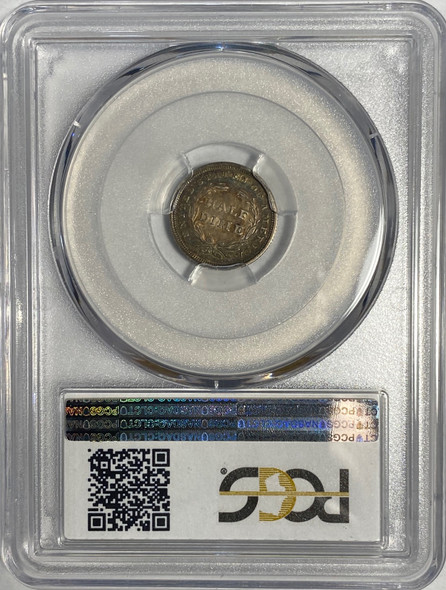 United States: 1837 5 Cent Silver No Stars, Small Date PCGS VF35