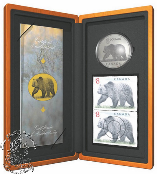 Canada: 2004 $8 Limited-Edition Stamp & Coin Set. The Great Grizzly