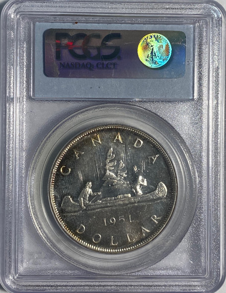 Canada: 1951 $1 Arnprior with Die Crack between T-I PCGS MS64
