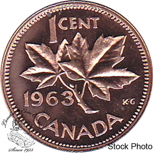 Canada: 1963 1 Cent Proof Like