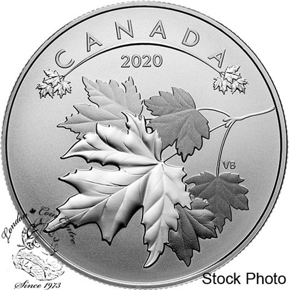 Canada: 2020 $10 O Canada Series #2: Maple Leaves 1/2 oz Pure Silver Coin