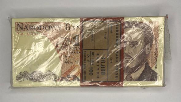 Poland: 1988 100 Zloty Bundle (100 pcs) Lot#1