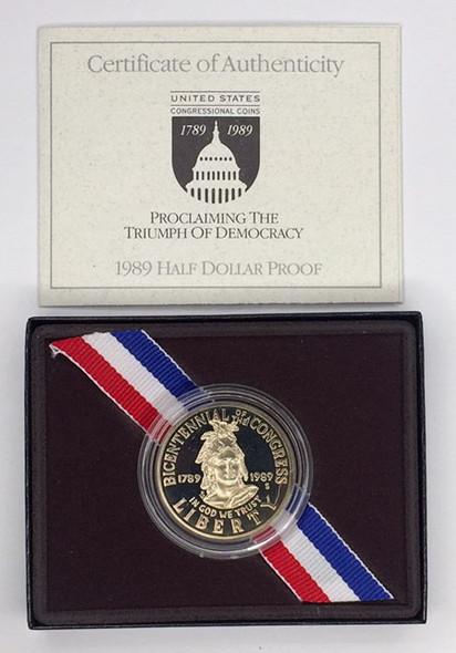 United States: 1989 Half Dollar Bicentennial of Congress Proof