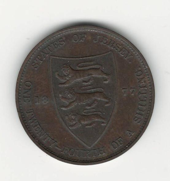 Jersey: 1877H 1/24 Shilling